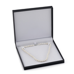 9-10mm White Freshwater Choker Length Pearl Necklace - AAAA Quality - Third Image