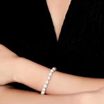 8.0-8.5mm Akoya White Pearl Bracelet - Model Image
