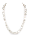 9-10mm White Freshwater Choker Length Pearl Necklace - AAAA Quality
