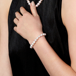 8.5-9.0mm Akoya White Pearl Bracelet- Choose Your Quality - Model Image