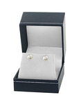 6.5-7.0mm White Akoya Pearl Stud Earrings - Fourth Image