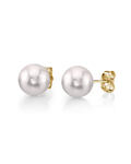 6.5-7.0mm White Akoya Pearl Stud Earrings - Third Image