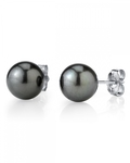 9mm Tahitian South Sea Pearl Stud Earrings- Various Colors