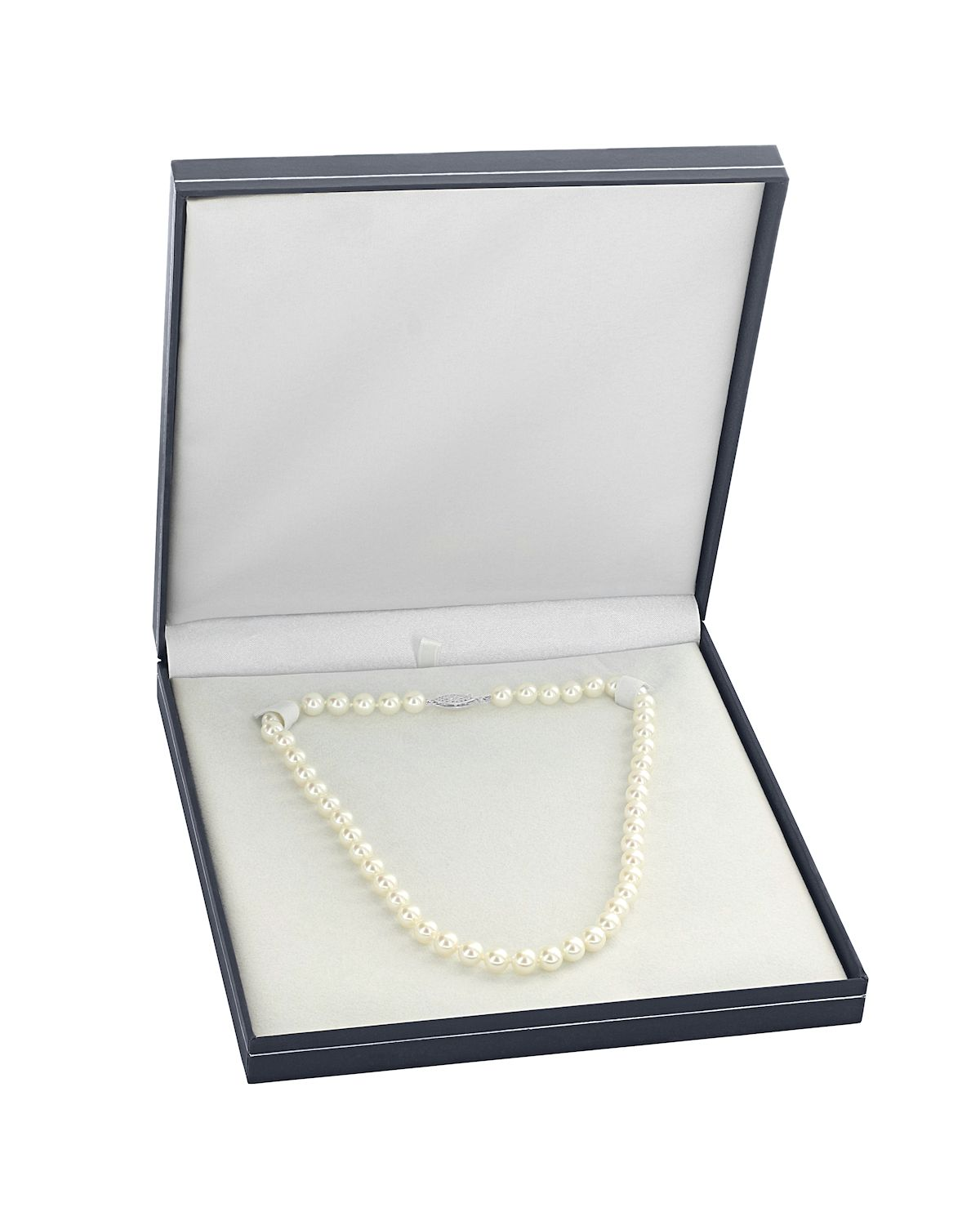 7 5-8 0mm Japanese Akoya White Pearl Necklace- AAA Quality