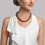 8-10mm Tahitian South Sea Pearl Necklace - Model Image
