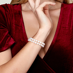 Japanese Akoya Double Pearl Bracelet - Various Sizes - Model Image
