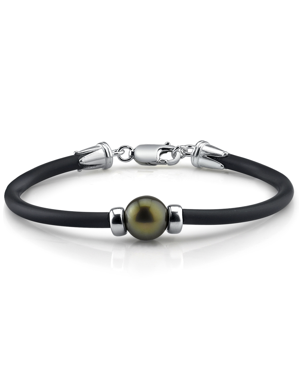 Tahitian Round Pearl Rubber Bracelet