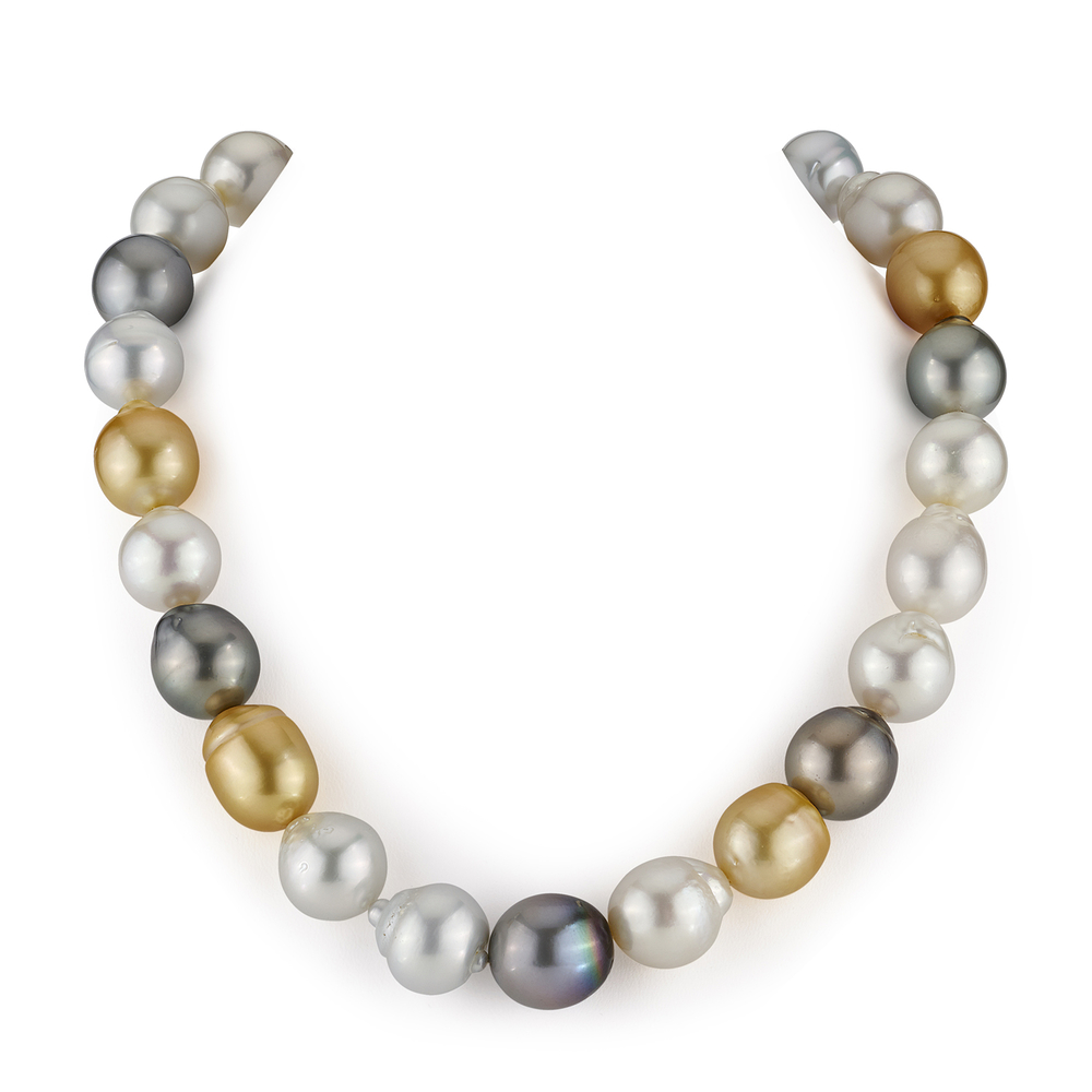 15-16.8mm South Sea Multicolor Baroque Pearl Necklace