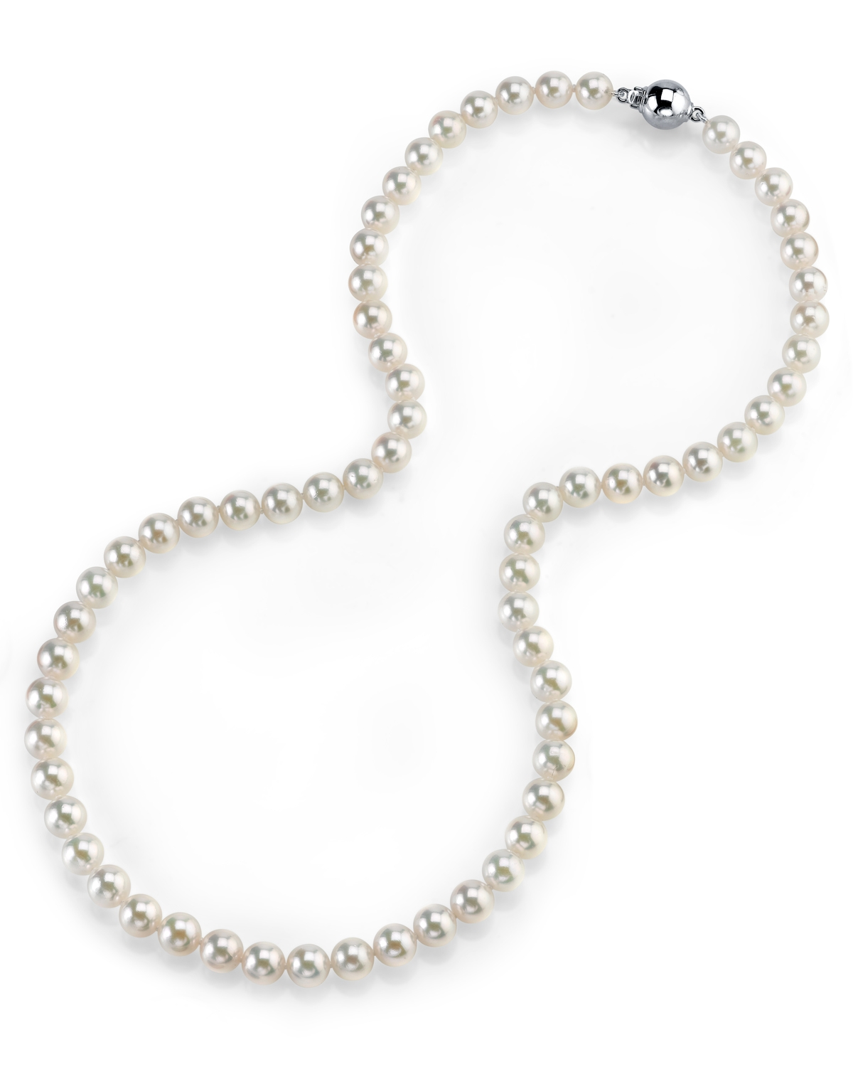 6.0-6.5mm Hanadama Akoya White Pearl Necklace