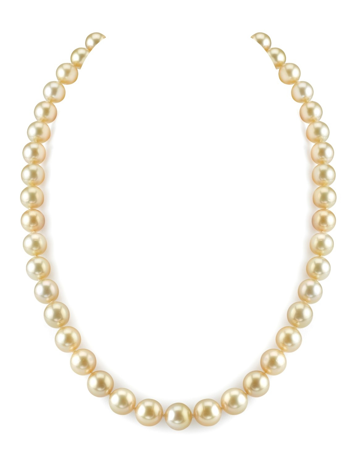 8-10mm Golden South Sea Pearl Necklace