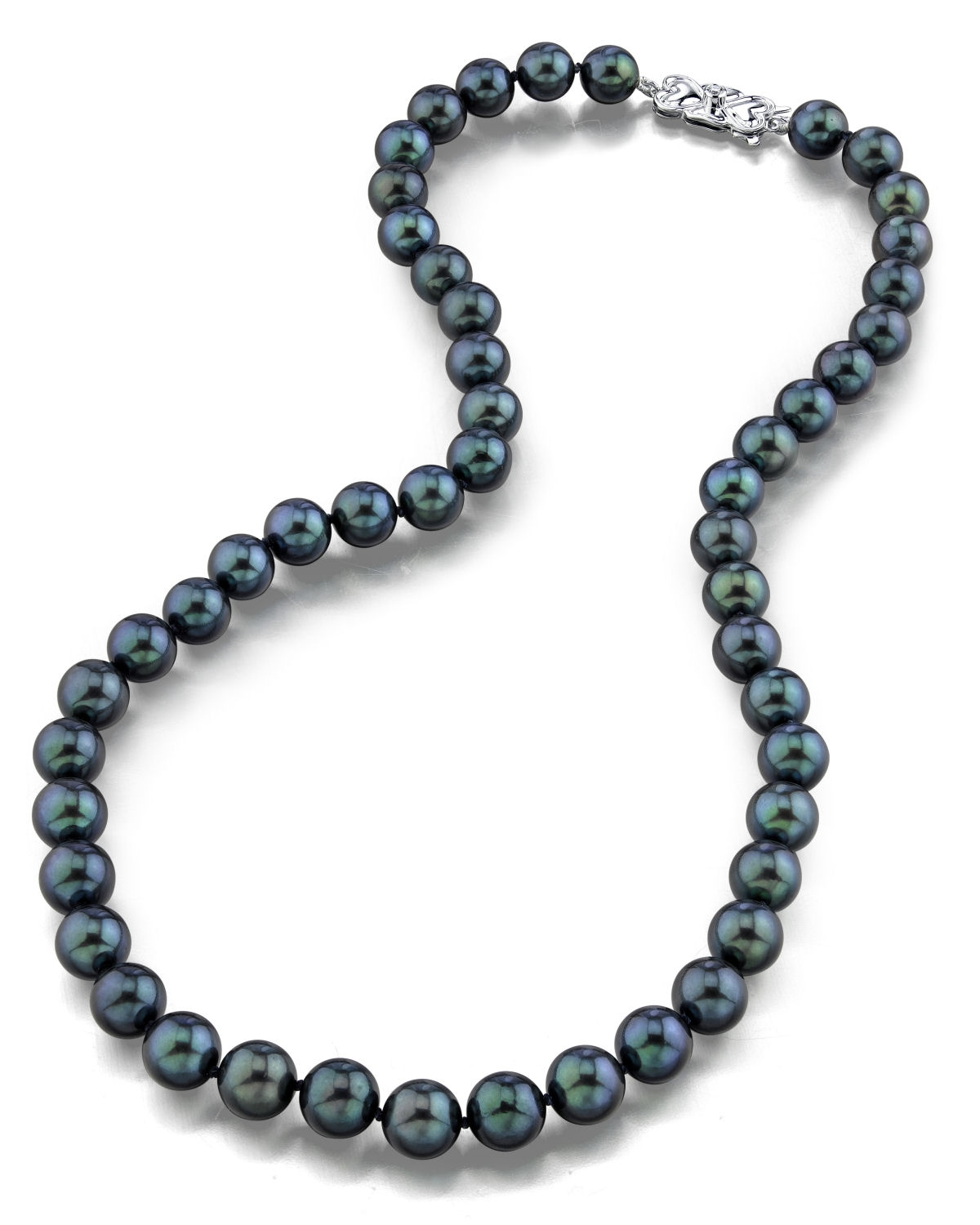 8.5-9.0mm Japanese Akoya Black Pearl Necklace-AAA Quality