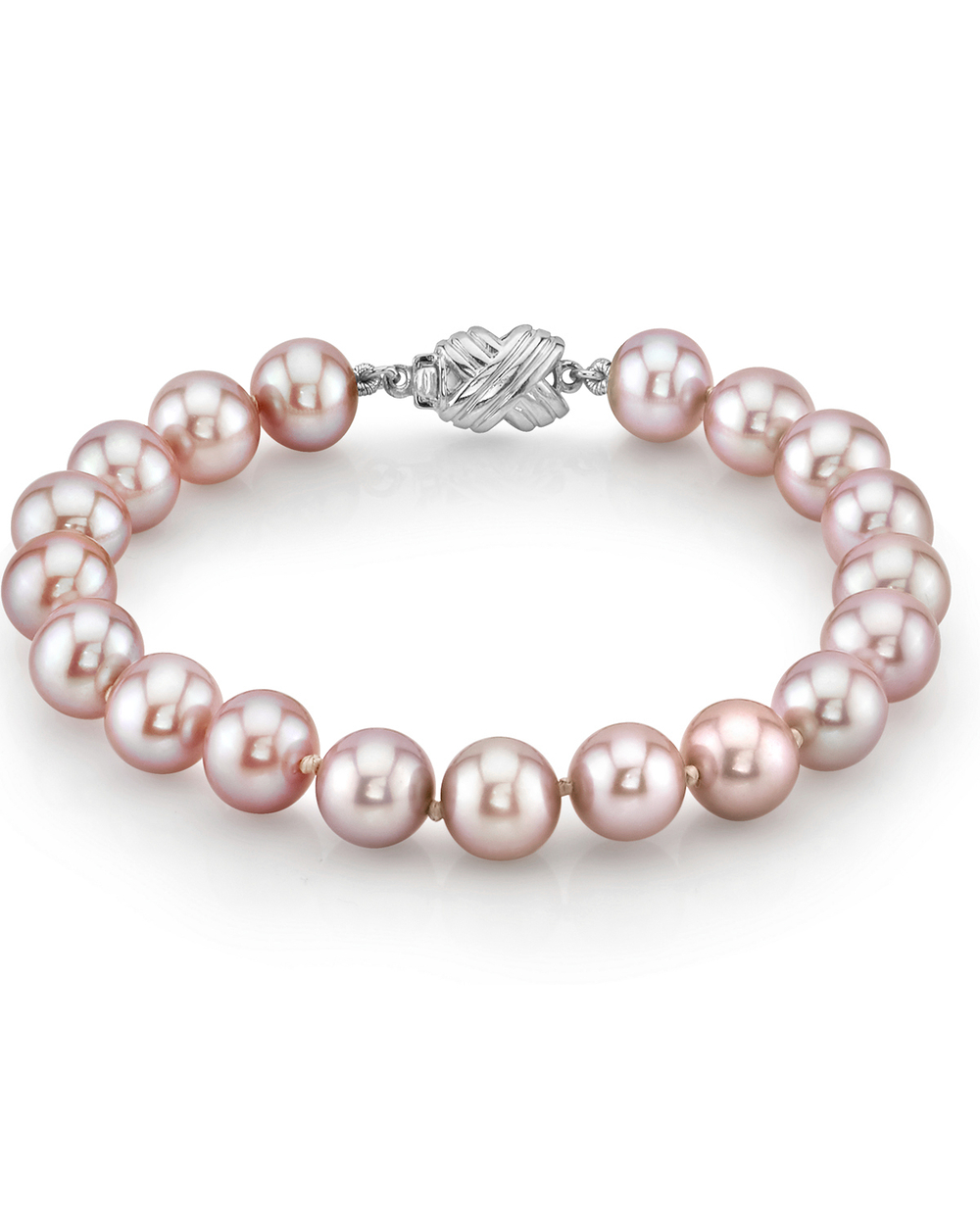 8-9mm Pink Freshwater Pearl Bracelet - AAAA Quality
